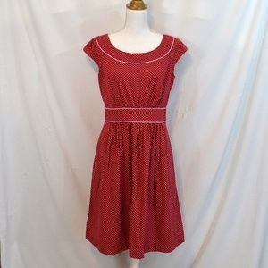 Modcloth Day After Day Red White Polka Dot XL EUC
